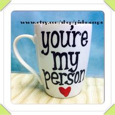 You're My Person Coffee Mug. Grey's Anatomy. Best Friend Gift. Bestie Gift. Anniversary Gift. You'll Always Be My Person Wedding Shower Gift