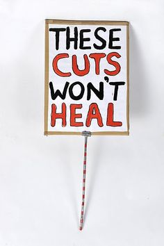 Cuts to arts funding.