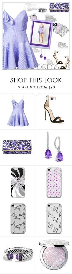 """""""Dreamy Dreamy Dress"""" by atelier-briella ❤ liked on Polyvore featuring Alex Perry, Giuseppe Zanotti, Jimmy Choo, Music Notes, David Yurman, Guerlain, chic, Elegant, phonecases and dreamydresses"""