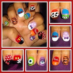 #DisneyPixar #Nailart I painted on a client the other day