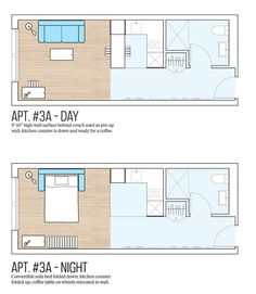 Micro Apartments NYCA ~ model floorplan.