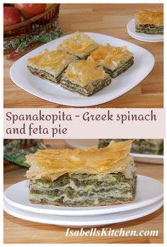 Spanakopita - Greek spinach and feta pie - isabell's kitchen