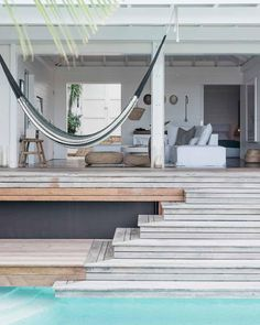 www.littlerugshop.com Major vacation crush on Matt and Kate Holsteins St Barts home (on DS today). I can only imagine how heavenly this is to wake up to and walk out into your perfect seaside pool by designsponge