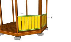 Buidling gazebo rails