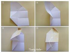 편지지 한장...고이고이...접어 볼까요?...^^ 마땅한 봉투가 없을때...한번 사용해 보세요~ ~ 예쁜 나뭇잎 ...