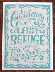Oscar Wilde Quote Robins Egg by MaryKateMcDevitt on Etsy