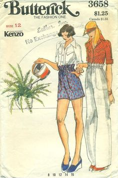 Butterick 3658 Kenzo Young Designer
