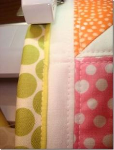 Different way to bind a quilt - faux piped binding by Nana2239