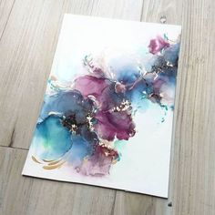 Alcohol Ink Crafts, Alcohol Ink Painting, Alcohol Ink Art, Pintura Graffiti, Acrylic Pouring Art, Oeuvre D'art, Painting Inspiration, Painting & Drawing, Dot Painting