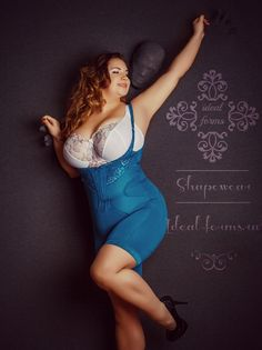 Plus size model Inna Kulin in shapewear Divas, Molliges Model, Vintage Fashion Photography, Full Figured Women, Plus Size Beauty, Beautiful Curves, Beautiful Women, Plus Size Model, Plus Size Lingerie