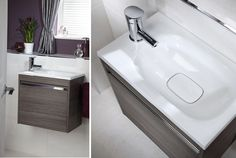 The halo cloakroom unit features a drawer, ideal for storing guest towels and other cloakroom essentials Fitted Bathroom Furniture, Timeless Bathroom, Uk Brands, Modular Furniture, Guest Towels, Bathroom Inspiration, Ranges, Halo, Bathrooms