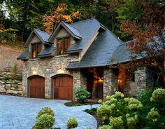 European stone and slate Mountain Home - traditional - exterior - atlanta - Mark Sinsky Architect, PA