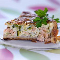 Quiche courgette saumon - Cuisine actuelle mobile