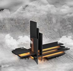 Maquette 🙈😍👌 Via Send us your projects ,models , renders , works , sketches. Futuristic Home, Futuristic Architecture, Concept Architecture, Architecture Design, Modern Skyscrapers, Modern Buildings, Maquette Architecture, Modern House Design, Instagram