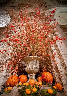 Decorating at the Met... where a little mother nature goes along way