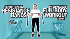 Resistance Band Ab Workout, Senior Fitness, Calisthenics, Workout Videos, Full Body, Bands, Activities, Exercises, Workouts