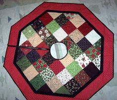 Tree skirt for myself from Jenny's tute. @Missouri Star Quilt Company - If I won the Chevron Fat Quarter Bundle I'd make some bags and purses.