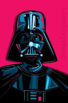 """Darth Vader Digital Art Print- Star Wars Illustration, 8"""" x 12"""" print, gift for Star Wars fan, Darth Vader art, Star Wars Collector Art"""