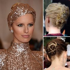 Gold hair accessories trend