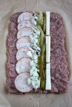 Monika from the kitchen - ciasto tasciowej Pork Recipes, Gourmet Recipes, New Recipes, Cooking Recipes, Mediterranean Diet Recipes, Polish Recipes, Pork Dishes, Food Design, Carne