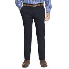 Men's IZOD Slim-Fit Performance Stretch Flat-Front Pants, Size: 31X32, Blue (Navy)