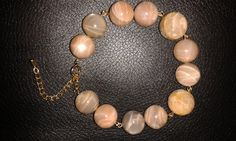 Natural moonstone and faceted sunstone adjustable by Druzyfloozy