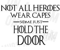 """#hodor #got #svg """"Not all heroes wear capes, some just hold the door""""  Hodor SVG file for Cricut Design Space GOT game of thrones by OnAwhimMugsNmore on Etsy"""