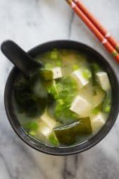Easy Miso Soup - quick miso soup recipe with tofu and seaweed. Miso soup is hearty, delicious, healthy and takes 15 minutes to make   rasamalaysia.com