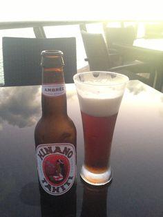 Hinano amber beer. ヒナノアンバービール