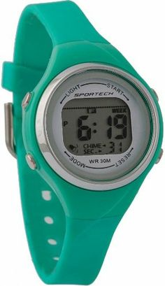 Sportech Women's | Green Thin Band Water Resistant Swim Sport Watch | SP10701