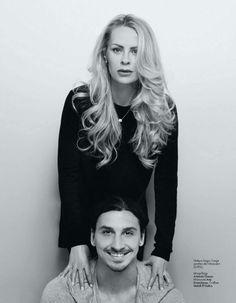 Helena Seger & Zlatan Ibrahimovic - Helena Seger , former model and actress; - Zlatan is professional footballer, striker, born in Malmo