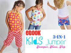 Nähanleitungen Kind - eBOOK # 66 ✪ Kids Jumper 3-in-1 50/56-158/164 - ein Designerstück von leni-pepunkt bei DaWanda