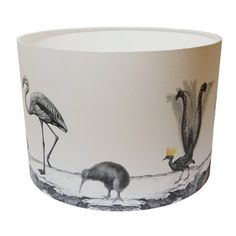 Birds Night Out Lampshade - Hand Gilded