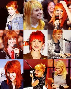 Hayley Williams (love MOST of her hair styles haha)