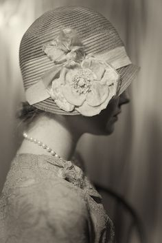 cloche/ part of a series documenting my 1920's hats. by Kelly Rae-, via Flickr
