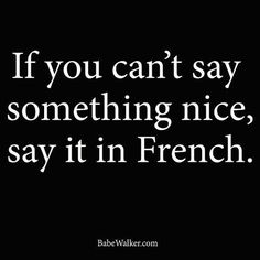 If you cant say something nice say it in French #french #paris…
