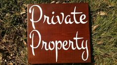 Square Private Property sign - suitable for outdoor use - pinned by pin4etsy.com