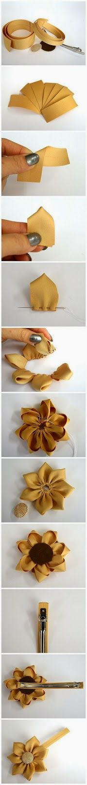 Flor en tela para gancho