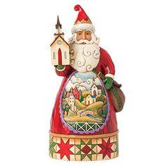 "Jim Shore Heartwood Creek Grace At Christmastime Church Scene Santa 8.75""H Figurine Heartwood Creek"