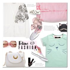 """Feline Fashion (2)"" by polly301 ❤ liked on Polyvore featuring STELLA McCARTNEY, Topshop, Kate Spade, Converse and catstyle"