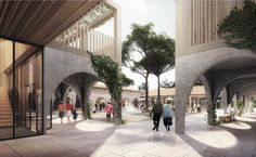 """The Village Landais Alzheimer in Dax will be a space for the Alzheimer patients to live more comfortable and safe. facility is """"Alzheimer's Village"""" Dax France, Elderly Home, Alzheimer's And Dementia, Dementia Care, Alzheimers, Innovation Design, Facade, Architecture Design, Exterior"""
