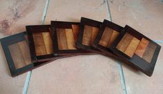 End-Grain Coasters, Made With Oak, Mahogany and Pine By Joe Lancaster