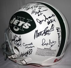 1968-69 New York Jets Team Signed Full-Size Proline Helmet Signed by (27)…