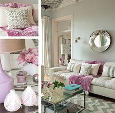 Décoration Romantique en pastel ~ Décor de Maison / Décoration Chambre