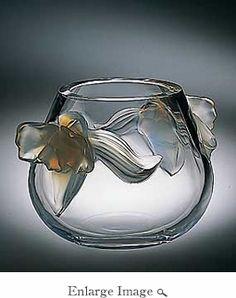 Lalique orchid vase
