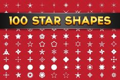100 Vector Star Shapes. Shapes
