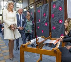 28 September 2016 - Queen Maxima visits the 10th anniversary of foundation Piezo in Zoetermeer