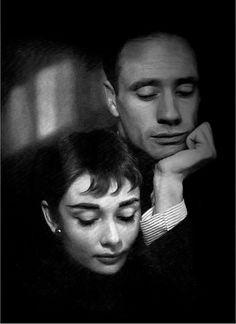 Rare Audrey Hepburn — Audrey Hepburn and husband Mel Ferrer photographed...