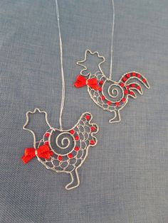 Bird Houses Diy, Bird Cages, Wire Crafts, Wire Art, Wire Wrapping, Rooster, Origami, Crochet Necklace, Projects To Try