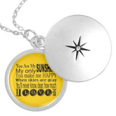 You Are My #Sunshine Apparel and Gifts Personalized #Necklace -- from Peacock Cards. Auntie SHoe approved.